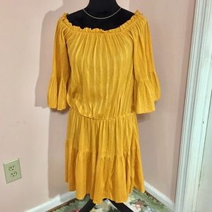 NWT ASOS Wide Neck Flare Peasant Dress